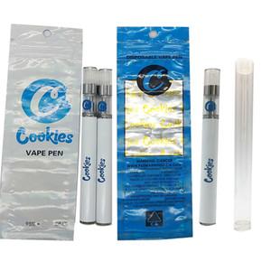 쿠키 일회용 Vape 펜 E 담배 Vape 키트 0.5ML 280mAh E CIG 배터리 기화기 펜 스타터 키트를 포장 오일 카트리지를 비 웁니다