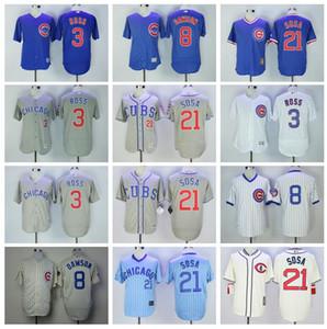 21 Sammy Sosa Retire Jersey Baseball 3 David Ross 8 Andre Dawson 1929 Vintage 1969 Pull Pull cool base Flexbase gris blanc bleu
