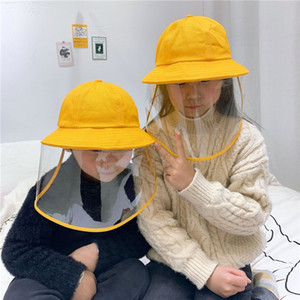 Anti-Fog Children Hat Spring & Autumn Thin Section With Mask Baby Fisherman Cap Cute Basin Hat Protective Sun Cap