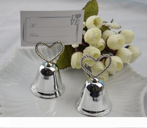 A New Creative Kissing Bell Heart Bells Clips, Message Clips, Note Clips for Party Wedding Table Decoration Favors