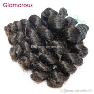 Glamorous Cheap Virgin Hair 1 Bundles Peruvian Human Hair Weave Double Weft Malaysian Indian Brazilian Ocean Wave Wavy Hair Extensions Wefts