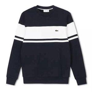 Hot Mens Autumn winter pullover street man's sweatshirt Men polos sweater crocodile knitting hoodie Breathable hooded Warm