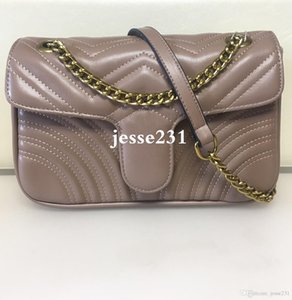 Alta Qualidade Marmont 26 centímetros Bolsas Pu couro e bolsas cadeia Velvet Tote Bag Moda Mulheres Cruz corpo Handbag Bolsa de Ombro Bolsa