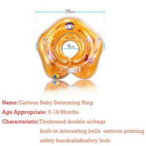 Niños del bebé de la nadada del niño del anillo inflable flotador del cuello del anillo de Natación piscina infante