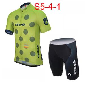 Açık Bisiklet 2019 Yeni STRAVA ekibi Kısa Kollu Bisiklet Formaları Önlüğü şort set Yaz Tarzı 53170
