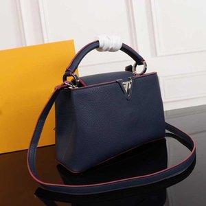 Leather Soft modo di alta qualità TS V Litchi Print borsa calda di vendita delle signore delle donne Nero Blu Crossbody Borsa a tracolla TSYSBB148