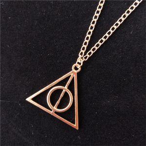 Mode-Qualitäts-Schmucksachen die Deathly Hallows Dreieck Halskette Antike Harry Silber Bronze Gold-Deathly Hallows Anhänger Potter WCW733