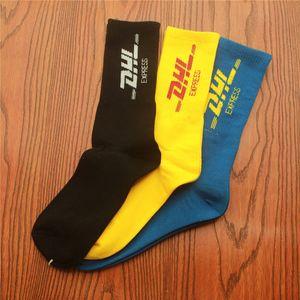 Herrensocken Trend Skateboard Socken DHL Brief Printing langer Schlauch-beiläufige Art und Weise Socken aus Baumwolle One Size
