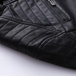 Large Size MEN'S Leather Clothing Autumn And Winter Men's plus Velvet PU Jacket 2018 Retro Fashion Trend MEN'S Outerwear