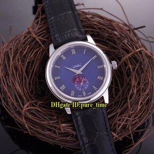 Yeni 39mm Prestige Küçük Saniye 4813.50.01 Mavi Kadran Asya 2813 Otomatik Erkek İzle Gümüş Kutu Deri Kayış Safir Gents saatler