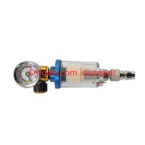 Scratc Spray Gun Air Regulator Gauge & In-Line Water Trap Filter Tool Spray Gun Regulator and Mini Spray Gun Regulator