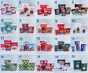 2020 año nuevo caramelo de la boda de Navidad Resumen Box favorece merienda bolsa de galletas del caramelo Paquete Bolsa de regalo Feliz Navidad tarjeta de papel impreso en 3D la caja del caramelo