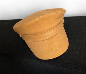 La alta manera de sombreros marinero Cap verano de las mujeres del sombrero de Sun de las mujeres capsula los sombreros de manera femenino de la tapa plana alemanes