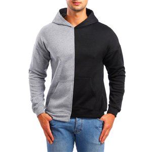 2019 Sweatshirt Men Harajuku Hip Hop Streetwear Patchwork Hoodies Kawaii Pullovers Hoodies Tracksuits Brand Streetwear
