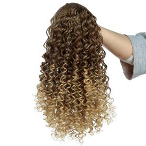 Слоеное Afro Kinky завитые Ponytail кулиской 12 дюймов Короткие афро кудрявый хвостик клип в расширениях 150G Synthetic Пони Bun Hair
