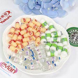 Simulação Mini Bebida Garrafas Cena Bebida DIY Food Modelos Supplies Slime Acessórios DIY de Slime por Barbie Dollhouse Decoration