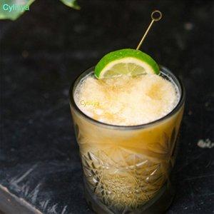 Paslanmaz Çelik Meyve Çatallar Kokteyl Dekorasyon Zeytin Çatal Rengi Kaplama Titanyum Meyve İğne 4 Şekli Mutfak Bar Araçları yeni