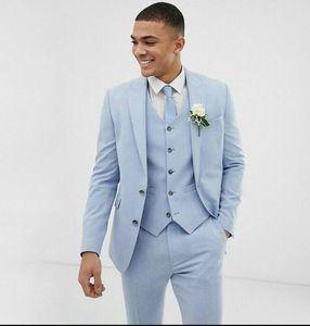 Weding Groom Tuxedos Groomsmen Side Vent Slim Fit Best Man костюм Свадьба / Мужские костюмы Жениха на заказ Mad (куртка + брюки)