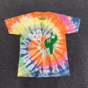 2019 Tie teinture Travis Scott Astroworld tour astronaute T T-shirt Hip Hop Hommes Femmes meilleure qualité manches courtes pour hommes T-shirt