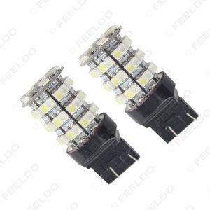도매 7443 T20 1210 60SMD 듀얼 컬러 화이트 / 앰버 스위치 백 자동차 회전 신호 백업 LED 조명 # 1480