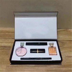 2020 YENİ En çok satan makyaj Hediye Kutusu ücretsiz kargo ile 1 kozmetik kiti Koleksiyon Parfüm ruj kaş kalemi maskara 5 set