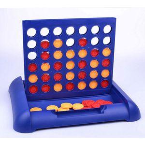 Rojo Amarillo Cuatro Conectar / Fila 4 en una línea divertida Junta Partes de la familia Classic Bingo Juego de mesa juguetes educativos