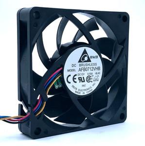 새로운 델타 AFB0712VHB DC12V 0.55A 45CFM 5200RPM PWM 온도 제어 센서 컴퓨터 CPU 서버 인버터 냉각 팬