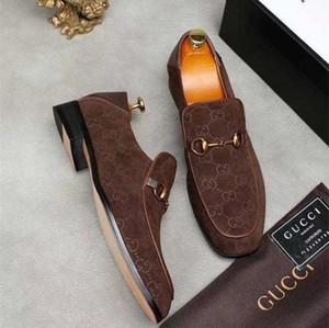 Un 2020 para hombre de lujo diseñadores de vestidos de Ace Zapatos Negro Gamuza marrón ocasionales de cuero de los holgazanes de los hombres de deslizamiento en punta en Oxford Tamaño de los zapatos 38-45
