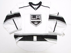 Cheap custom LOS ANGELES KINGS AWAY JERSEY GOALIE CUT 60 stitch add any number any name Mens Hockey Jersey