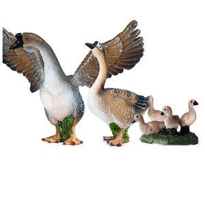 Simulazione Goose Action Figures Lifelike Istruzione Bambini Bambini allevamento di pollame modello animale giocattolo del regalo fumetto Giocattoli