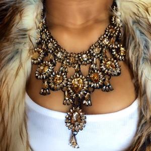 MYDANER New Fashion Charm Collar Pendente Colar Maxi Para Mulheres Declaração Waterdrop Jóias Casamento Por Grosso