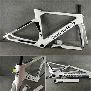 Nouvelle arrivée NJWH 2019 Blanc Noir T1000 UD Colnago Concept frameset vélo route en carbone cadre fourche Tige de selle casque Calmp Livraison gratuite