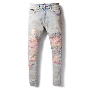 19ss Mens Designer Pants New Style Casual Skinny Sweatpants Mens Designer Jeans Drop Crotch Jogging Pants Mens Jeans