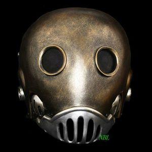 Horror The Clockwork Man Máscaras Halloween Hellboy Película Mascarada Kroenen Casco de Cara Completa Máscara de Resina Tamaño Adulto Cosplay Prop SH190922
