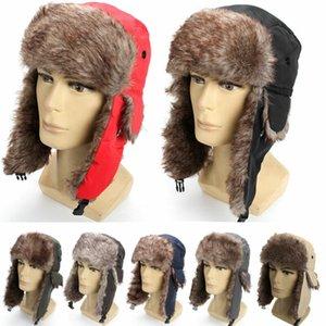 Yepyeni Unisex Trapper Bombacı Sıcak Rus Trooper Kulak Kış Kayak Şapka Erkekler Kadınlar Cap Yeni Bombacı Şapkalar