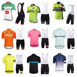 2019 camicia Euskadi RAPHA Cycling Jersey Set Men bici del manicotto vestiti corti sport della bicicletta estate Salopette alta qualità K032804 uniforme