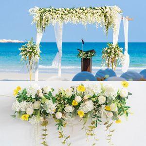 Пользовательские свадебная икебана моделирования поддельного цветок украшение реквизит арка цветок свадьба сцена дорога свинцового расположение LJJA3322-22