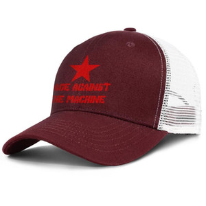 Rage Against The Machine burgundy for men and women trucker cap ball styles custom personalized hats