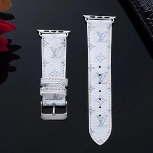 Clásica tendencia de la moda de la correa de cuero elegante caballero para Smart reloj 42mm 38mm 40MM los 44MM de Apple cómodo ocasional de los hombres de las mujeres de negocios