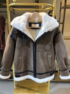 Pelz Wollmantel Mode Frauen Lederjacken Frauen Herbst Winter Warme Jacken Wildleder Oberteile Oberbekleidung Mantel Pelzmantel 1-31