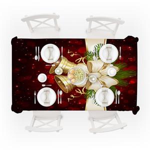 Tabela retângulo de Natal Pano Toalha cervos Sino Imprimir Toalha Waterproof Table Table Cover dos desenhos animados Início Xmas Decoração DBC VT1232