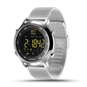 Reloj elegante EX18 IP67 a prueba de agua reloj de pulsera deportivo pasómetro inteligentes Actividades Rastreador inteligente Bluetooth pulsera para IOS Android iPhone reloj