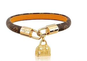 Hochwertiges Leder-Armband Luxus-Liebhaber Schmuck Charm Bracelets Lv Armband für Frauen Männer dekorative Muster Armband Box 68