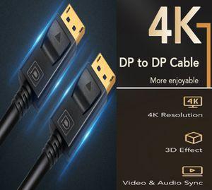 DisplayPort Cable 144Hz Display Port Cable 1.2V 1.4V 4K 60Hz DP Vedio DisplayPort to DisplayPort Cable for HDTV Projector PC