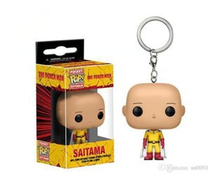 China Funko POP Punch Superman Saitama Teacher Model Keychain Pendant Toy