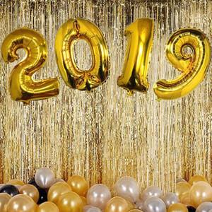Dozzlor 1pc 16 İnç Numarası Folyo Balonlar Harf Balon Anniversaire 2019 Yılbaşı Doğdun Ballons Parti Dekorasyon