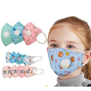New Baby Kids Folding Mask with Breathing Valve Face Masks Protective Dustproof Protective Mask Children Self-priming Filter Masks