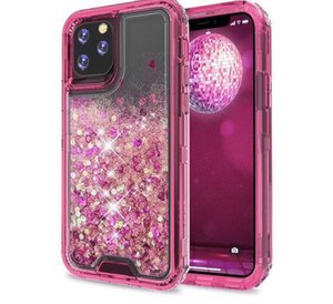 Glitter coloré Quicksand Defender liquide pour iPhone 11 iPhone12 iphone 12 XRStylo6 K51 A01 A21 A11 G Stylus MOTO E7 Aristo5 K31 cas
