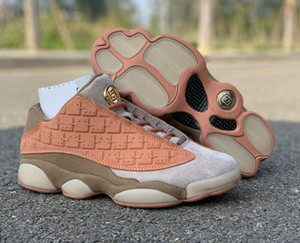 Ship 13s Clot Low Sepia Stone Canteen Terra Blush Designer Basketball Shoes With Box Newest XIII Terracotta Blush Fashion Sneakers Size36-47
