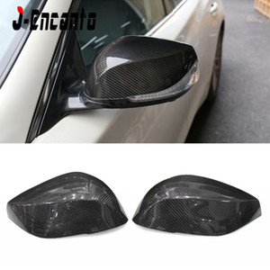 1Pair Direct Add-on Carbon Fiber Side Mirror Cover Caps Exterior Accessories for INFINITI Q50 Q50 QX30 Q60 Q70 Q50L 2014-2016